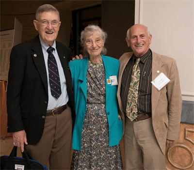 Daniel and Frances Berg with Martin E. Glicksman