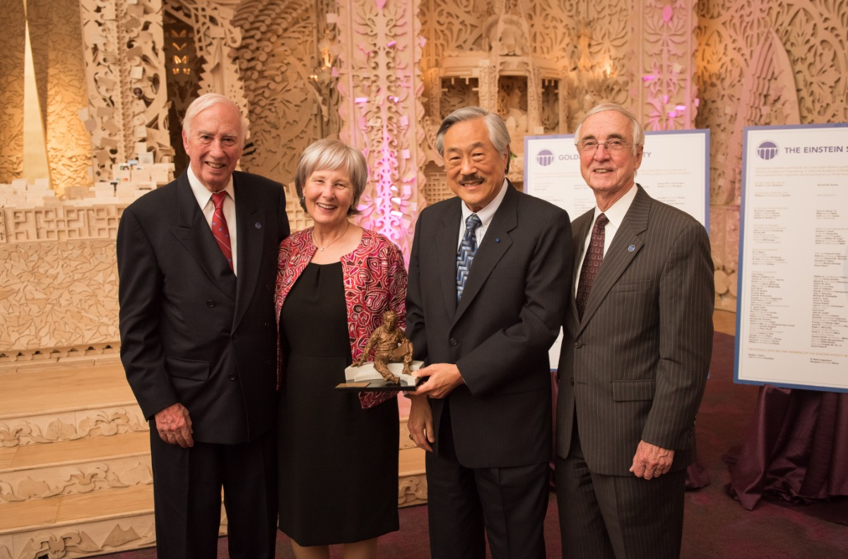 James M. Tien and Ellen S. Weston with NAE president C. D. Mote, Jr., and NAE Chair Gordon England