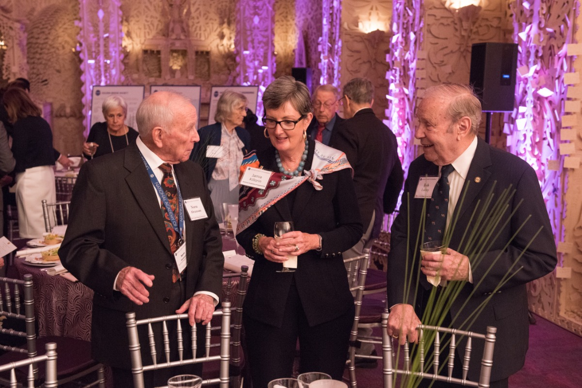 Norman Abramson and Robert G. Loewy with Jamie Killorin, NAE Director of Gift Planning