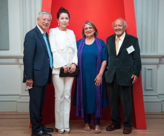 Ming and Eva Hsieh with Anu Luther and Thomas Kailath