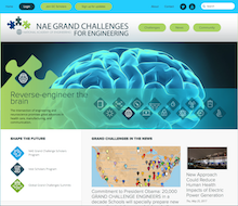 Grand Challenges homepage screenshot