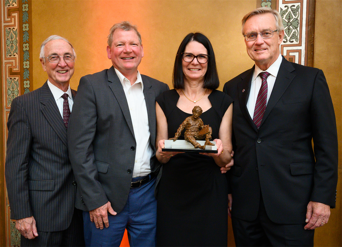 Nadine Aubry and John L Batton with Chairman England and NAE President John Anderson