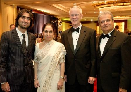 Madni Family and NAE President Chuck Vest
